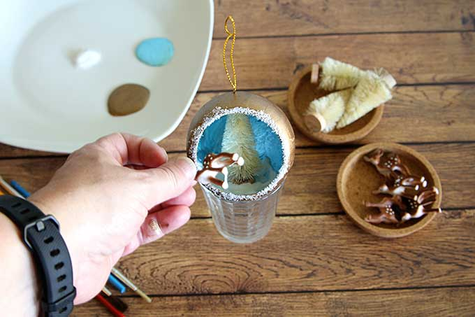 DIY Christmas diorama ornament
