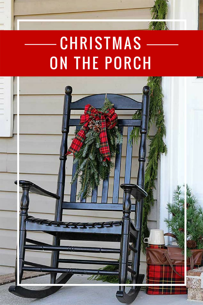 Jolly front porch Christmas decorations that combine traditional and vintage Christmas decor for a holiday porch the neighbors will envy. #ChristmasDecor #porch #PorchDecor #VintageChristmas #retrochristmas #kitschmas #kitsch