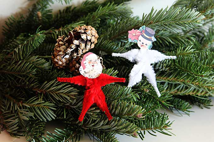 How to make vintage inspired pipe cleaner ornaments