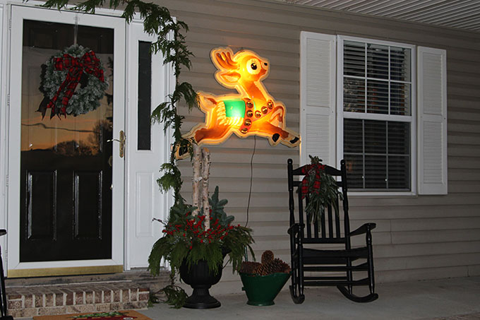 Vintage store display lighted reindeer