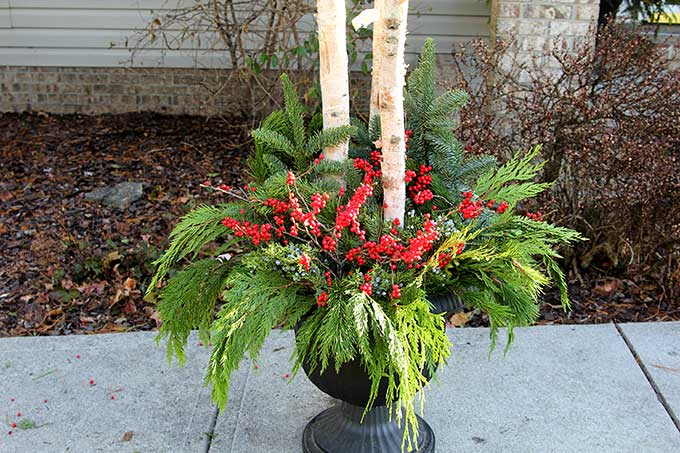 How To Make Outdoor Christmas Planters House Of Hawthornes