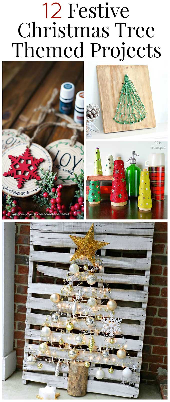 12 Christmas tree themed DIY projects for the holiday season. #ChristmasDecor #holidaydecor #christmasdiy