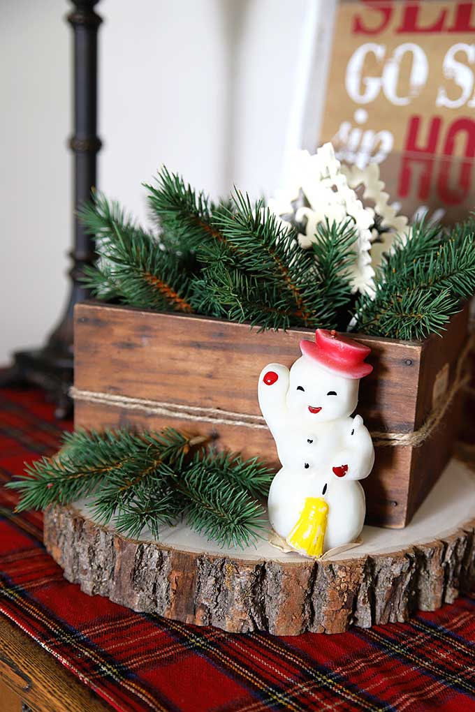 Gurley snowman candle