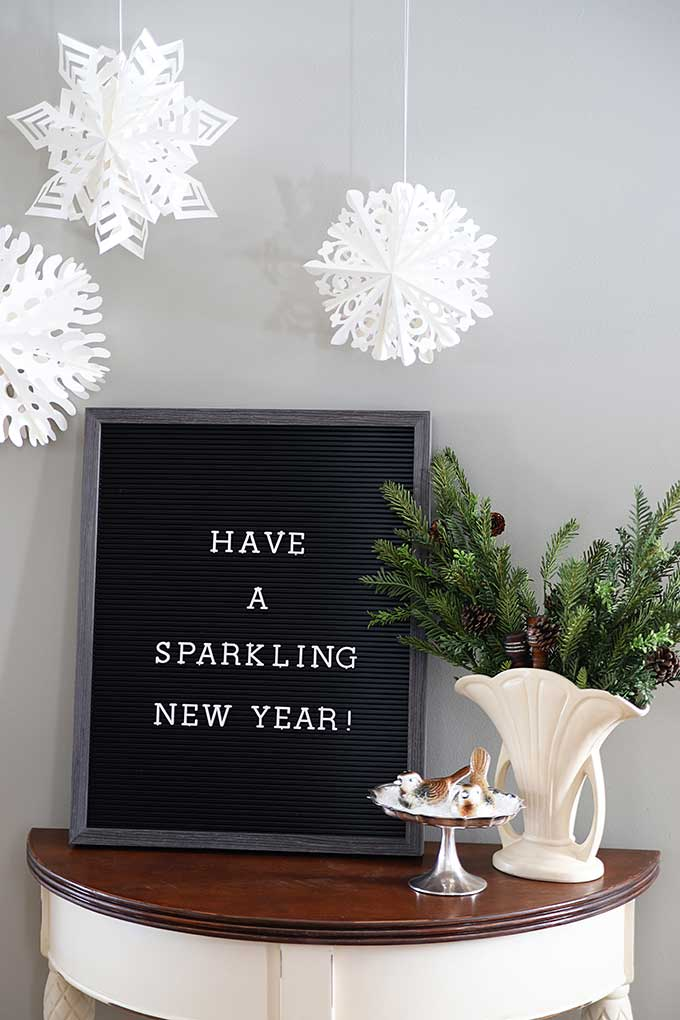 New Year's Eve letter board quote