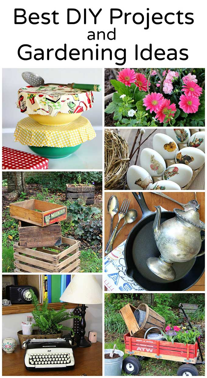 My best DIY Projects and Gardening Ideas from the House Of Hawthornes blog including reusable food wrap, letter board ideas, KonMari organizing tips for thrift store shoppers, gardening tips and seasonal porch planter ideas. #diyproject #gardening #porchdecor #porch #bestof2017