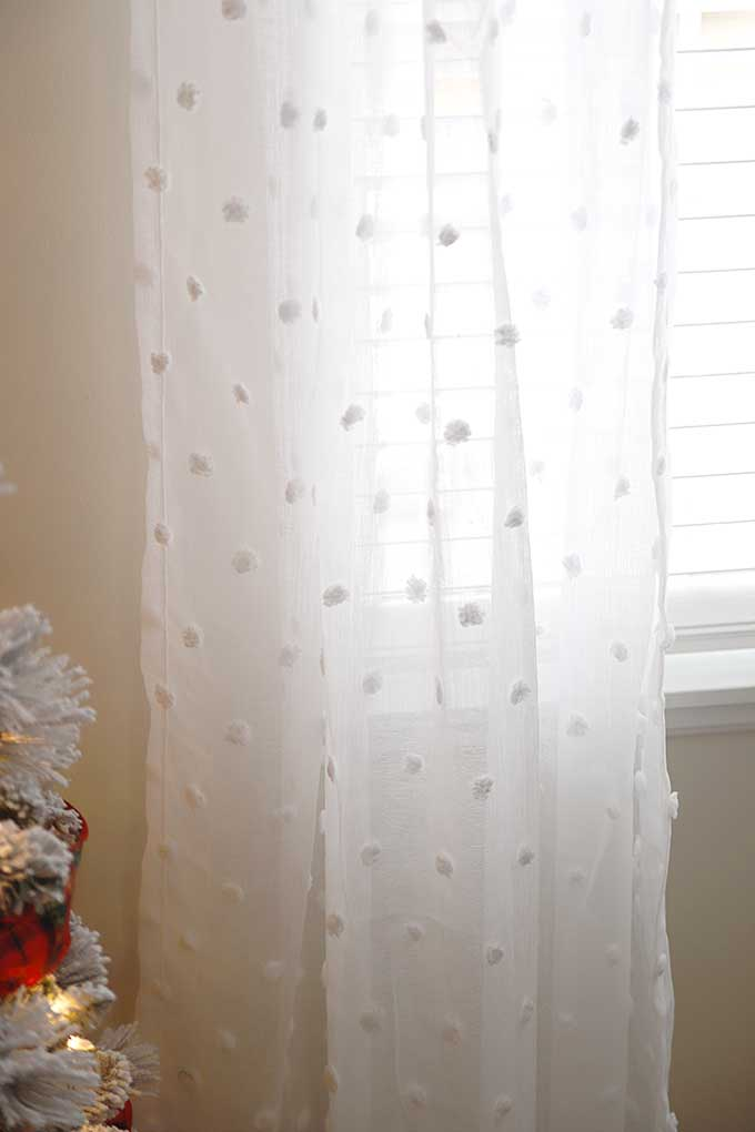 Sheer dotted curtains