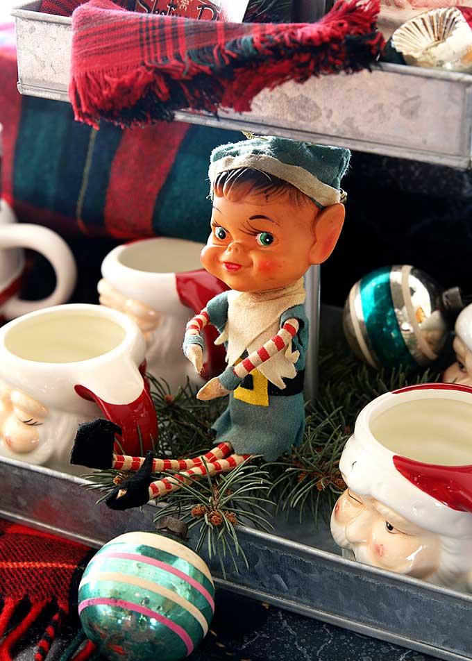 Vintage creepy Christmas elf