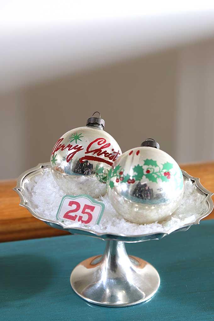 retro glass ornaments