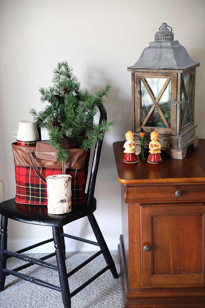 Vintage rustic Christmas decor