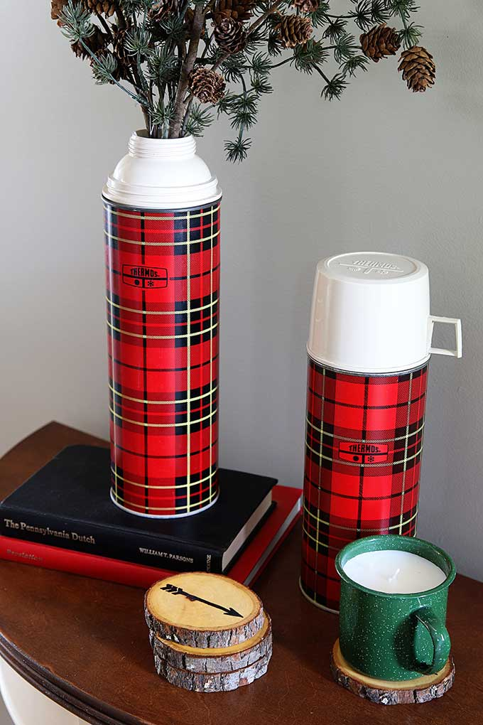 Vintage plaid Thermoses