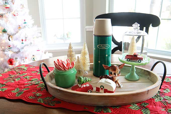 Vintage Holiday thermos vignette