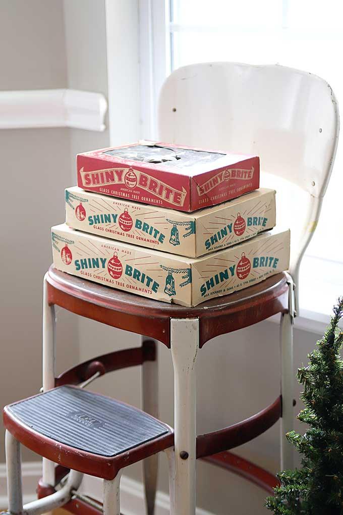 Vintage Shiny Brite boxes