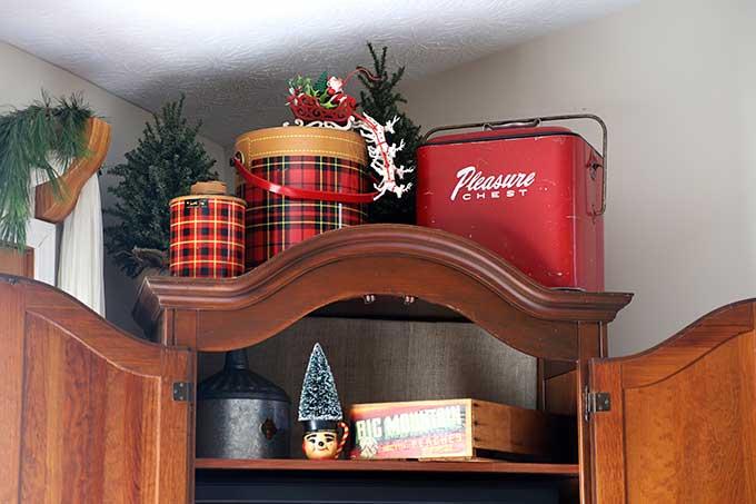 Skotch Kooler used in Christmas decor