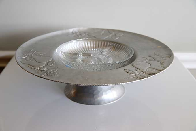 Mid-century modern forged aluminum serving tray by Everlast