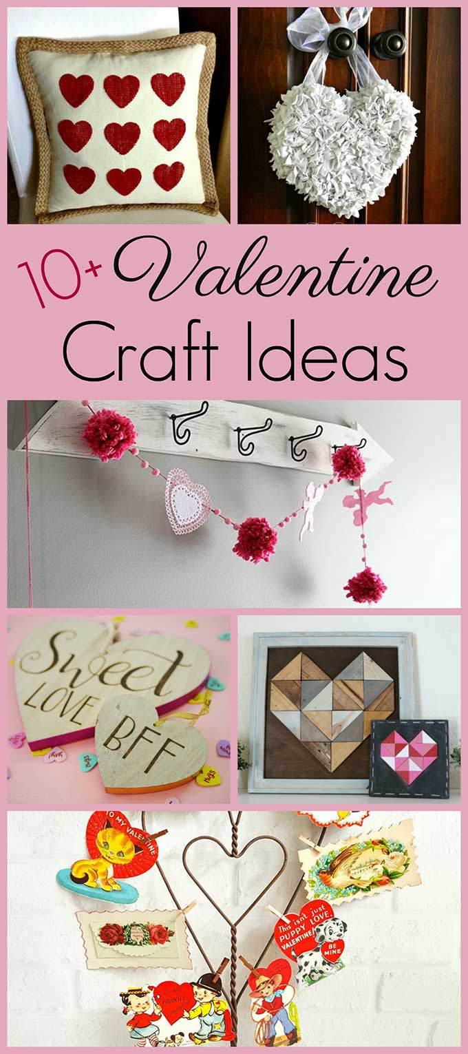 Simple Valentine's Day crafts and DIY projects from your favorite bloggers and crafters. From heart shaped string art to romantic cupid banners, there's a Valentine craft project for everyone. #valentinesday #valentinecraft #pompom #easycrafts #stringart
