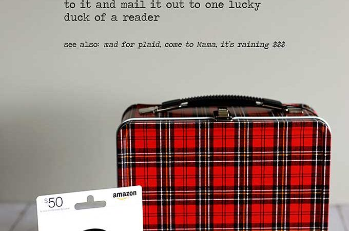Mad For Plaid Lunchbox & Giveaway