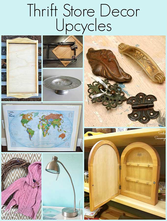 Creative upcycling ideas for thrift store decor #thrift #upcycling #upcycled #repurposed
