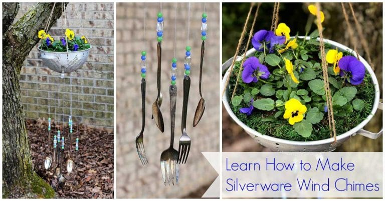 How to make silverware wind chimes house of hawthornes for How to make a windchime out of silverware