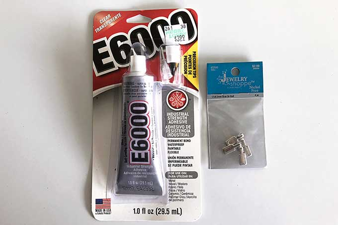 E6000 glue and jewelry bails