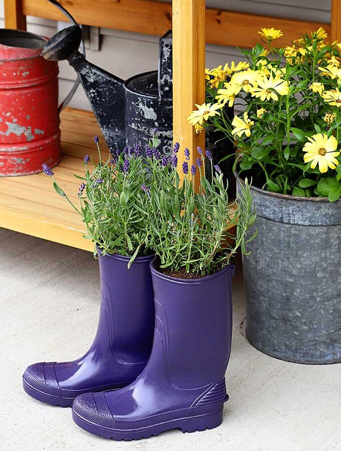 DIY Rubber Boot Planters: These Boots Aren't Made For Walking