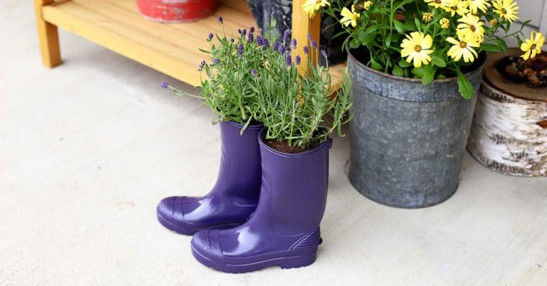 Diy Rubber Boot Planters House Of Hawthornes