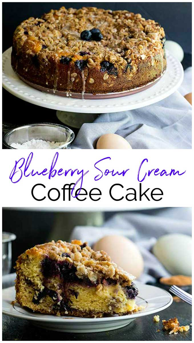 This moist and yummy blueberry coffee cake recipe is full of delicious fresh blueberries with a crumbly streusel topping. A perfect dessert for summer parties and 4th of July picnics!