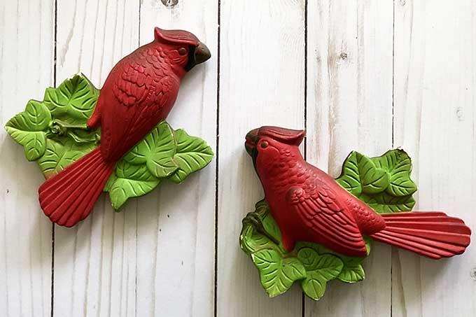 Miller Studios chalkware cardinals