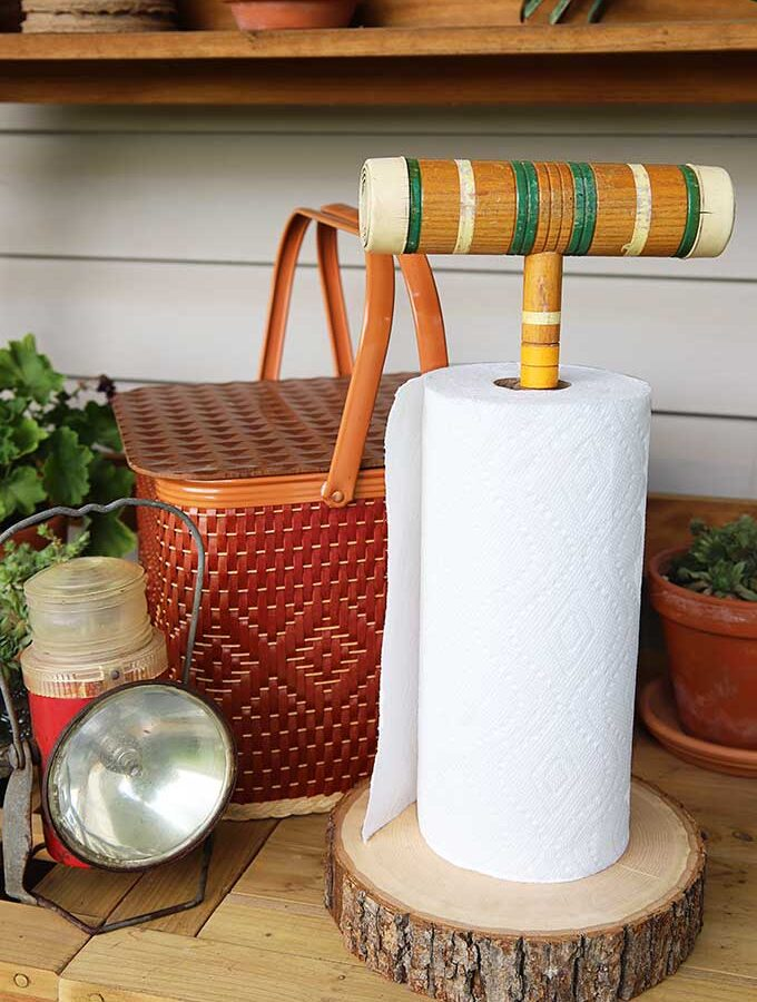 Fun And Functional Vintage Croquet Set Repurpose
