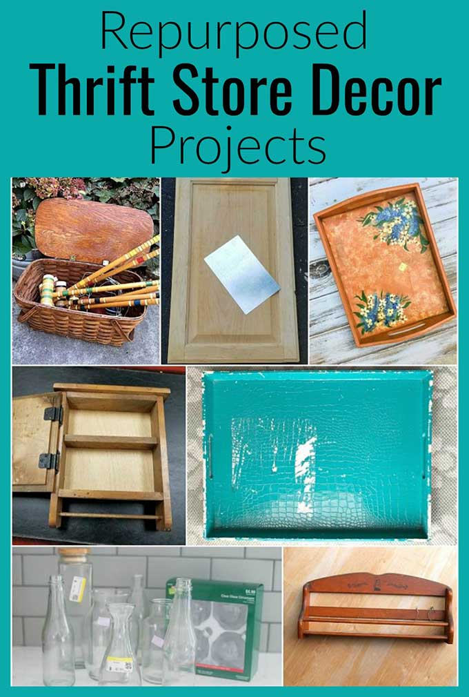 Repurposed thrift store decor projects for thifty home decor!