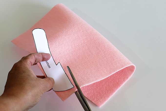 Cutting felt for vintage camper craft