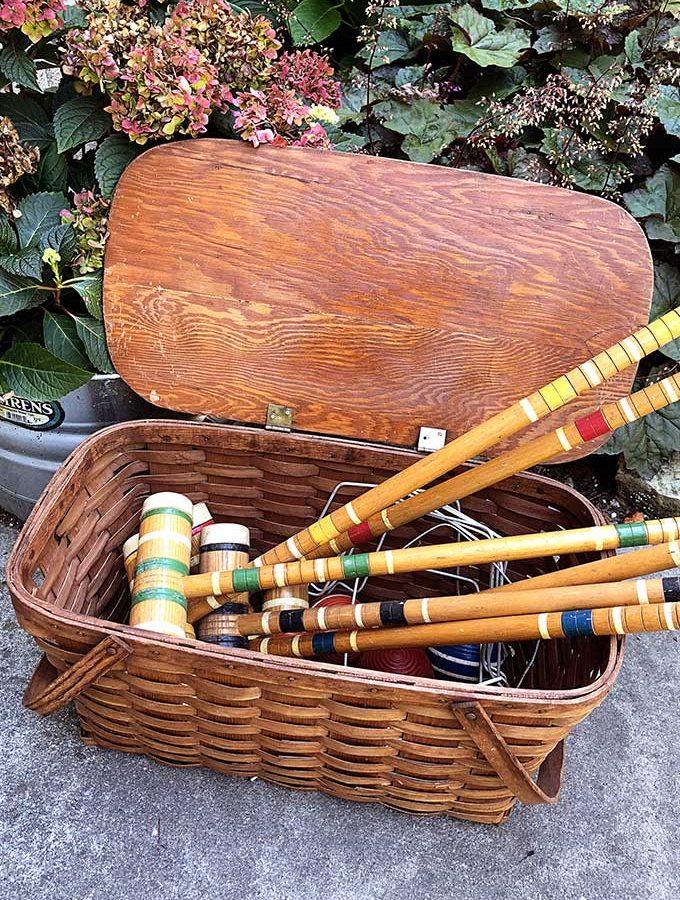 Vintage Croquet Set Repurpose
