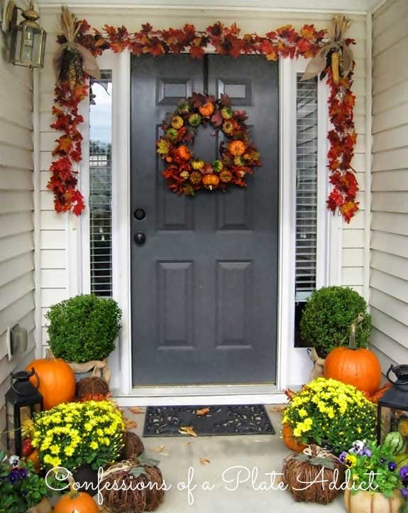 Traditional fall outdoor decorations from Confessions Of A Plate Addict