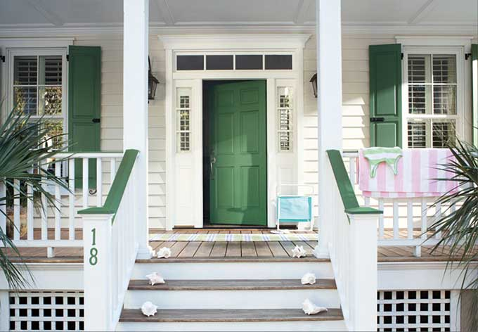 Benjamin Moore Green Meadows paint - favorite front door paint colors