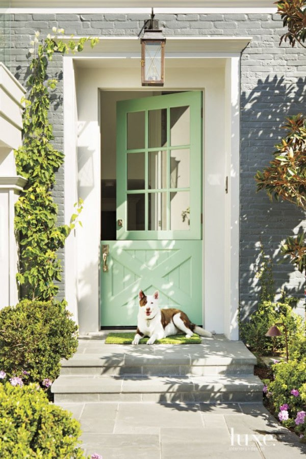 Benjamin Moore Minty Green paint - favorite front door paint colors