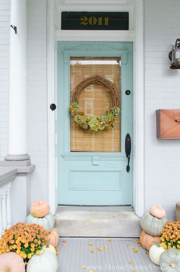 Benjamin Moore Wyeth Blue paint - favorite front door paint colors