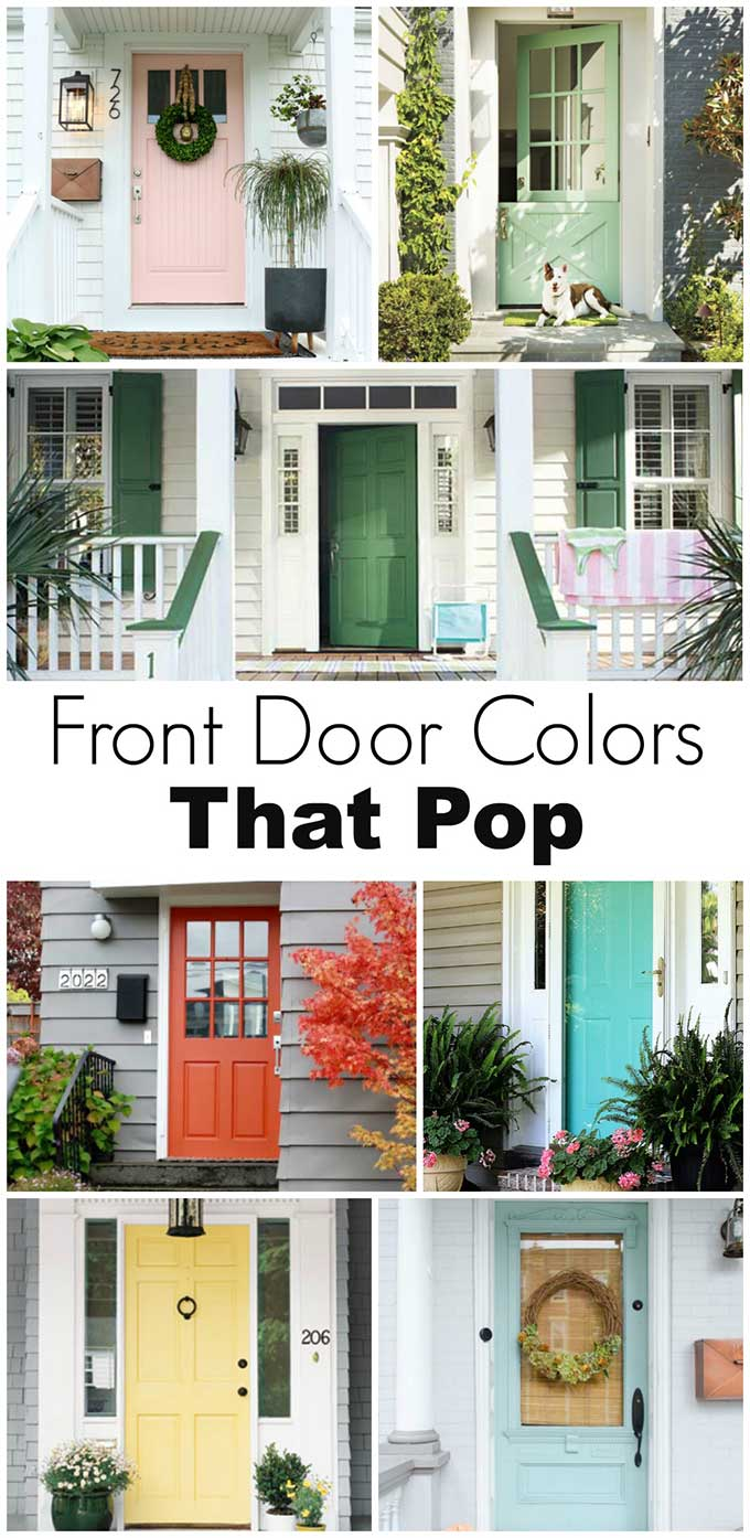 Front door paint colors that pop!