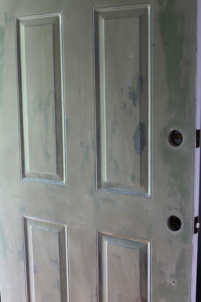 how to paint a front door without removing it house of. Black Bedroom Furniture Sets. Home Design Ideas