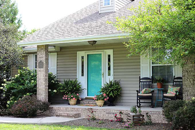In My Last Post, Front Door Colors That Pop, I Showed You Some Door Colors  That I Was Lusting After. I Ended Up Going With Gliddenu0027s Capri Teal, ...