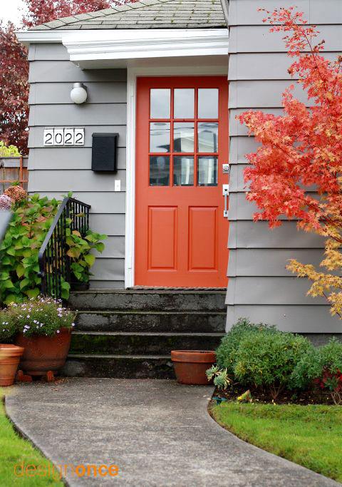 Orange front door paint color