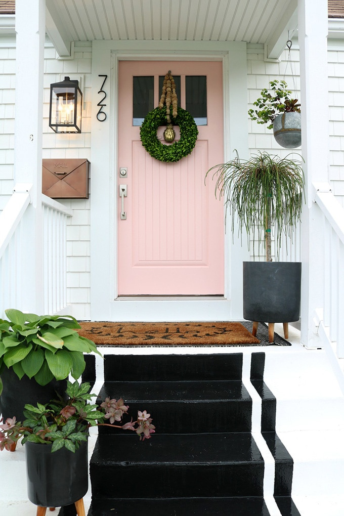 Sherwin Williams Coral Perfection paint - favorite front door paint colors