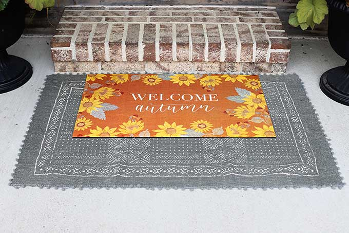 Using two doormats at your front door.