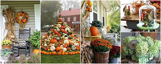 Fall decor including outdoor fall decorations and DIY fall decor ideas!