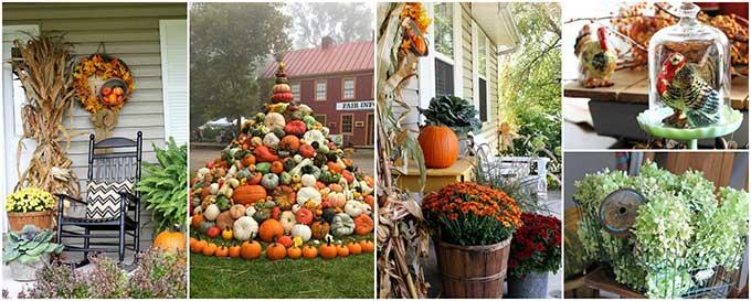 Fall decor including outdoor fall decorations and DIY fall decor ideas!