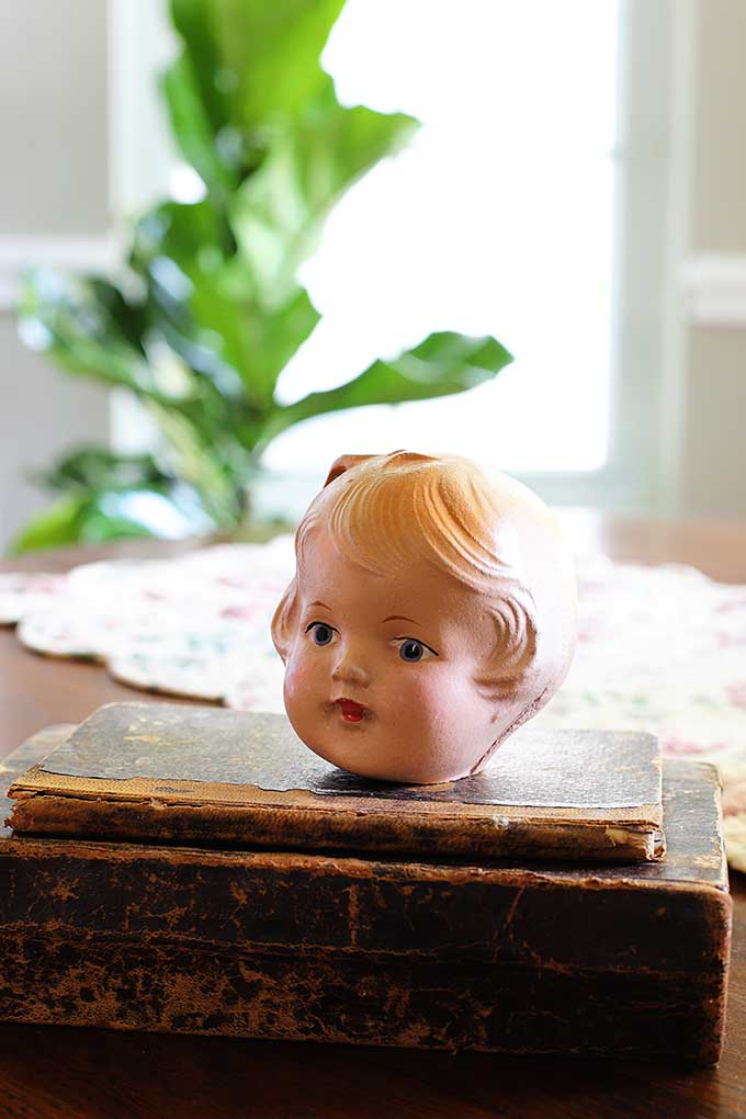 Creepy doll head