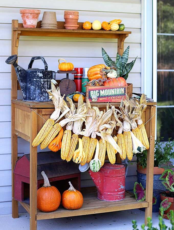 How To Make A Fall Corn Garland