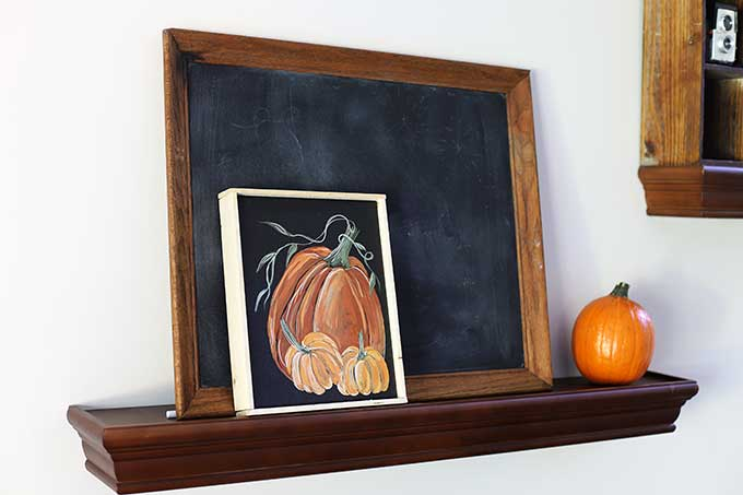Hand-painted pumpkin artwork