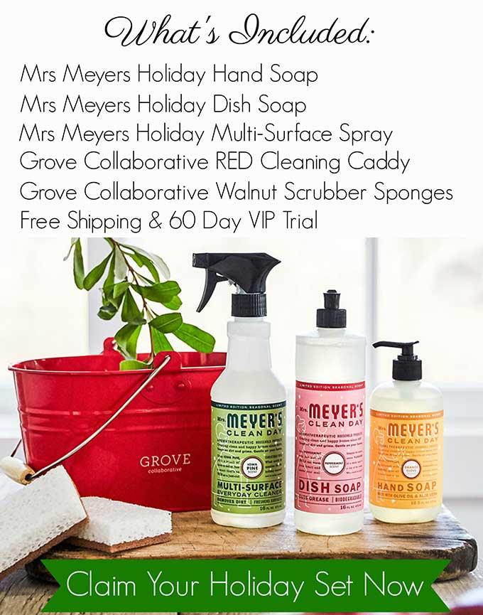 Free Mrs Meyers Holiday Scents