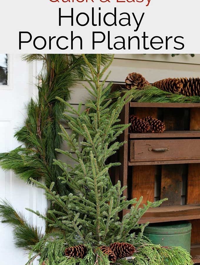 Easy Holiday Front Porch Planters
