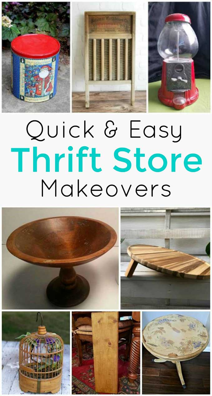 Quick and Easy thrift store makeovers!
