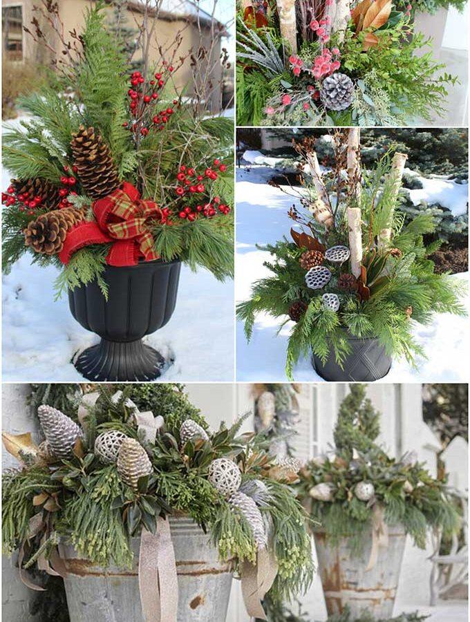 20 Beautiful Winter Planter Ideas